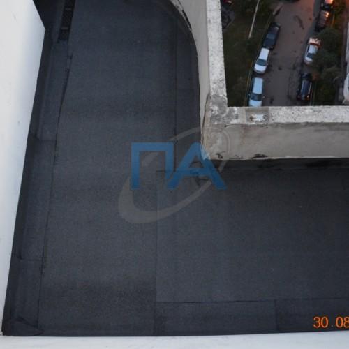 Мягкая кровля балкона с утеплением